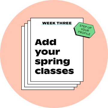 """Instagram post """"Step up your profile - Week 3: Add your spring classes"""""""