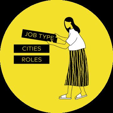 """Instagram post """"Job Type, Cities, Roles"""""""