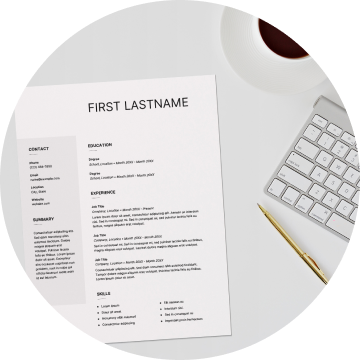 Instagram post – image of resume