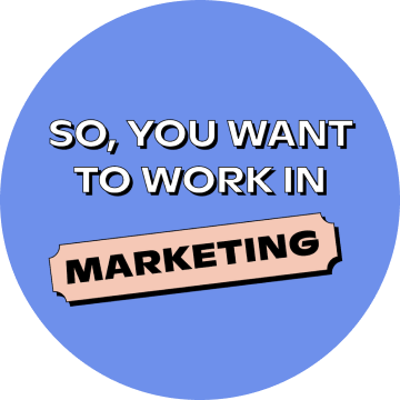 """Instagram post """"So, you want to work in marketing"""""""