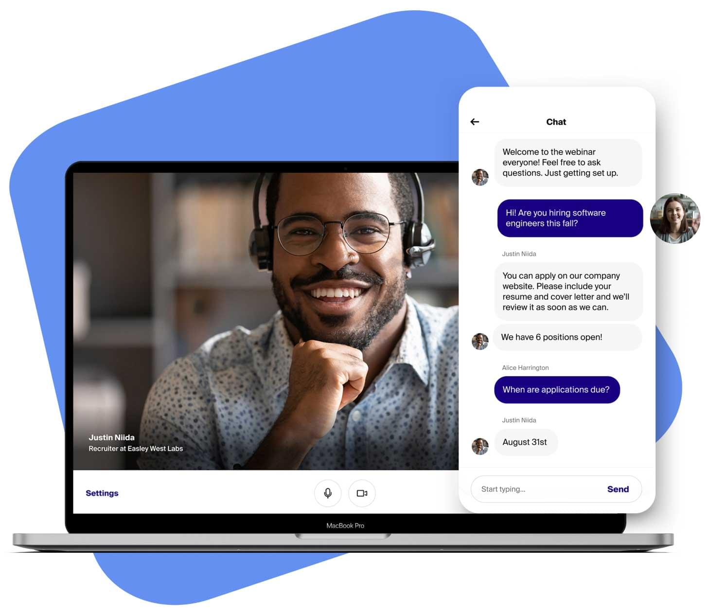Chat with employers
